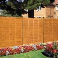 Fencing, posts, panels, landscaping