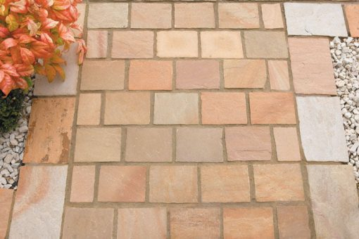 Natural Sandstone Setts Sunset Buff