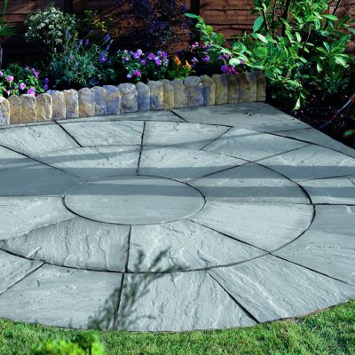 Bradstone Natural Sandstone Circle Silver Grey