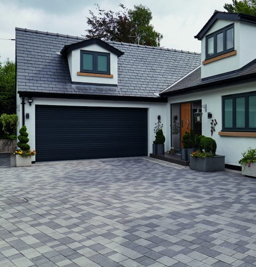 Stonemaster block paving Light, Mid & Dark Grey