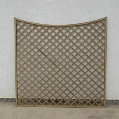 Concave Framed Lattice Trellis