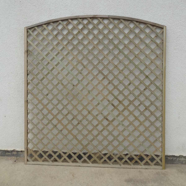 Convex (Dome Top) Framed Lattice Trellis - Kebur
