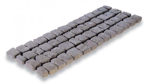 Rustic Red Charcoal Carpet Stones Straight
