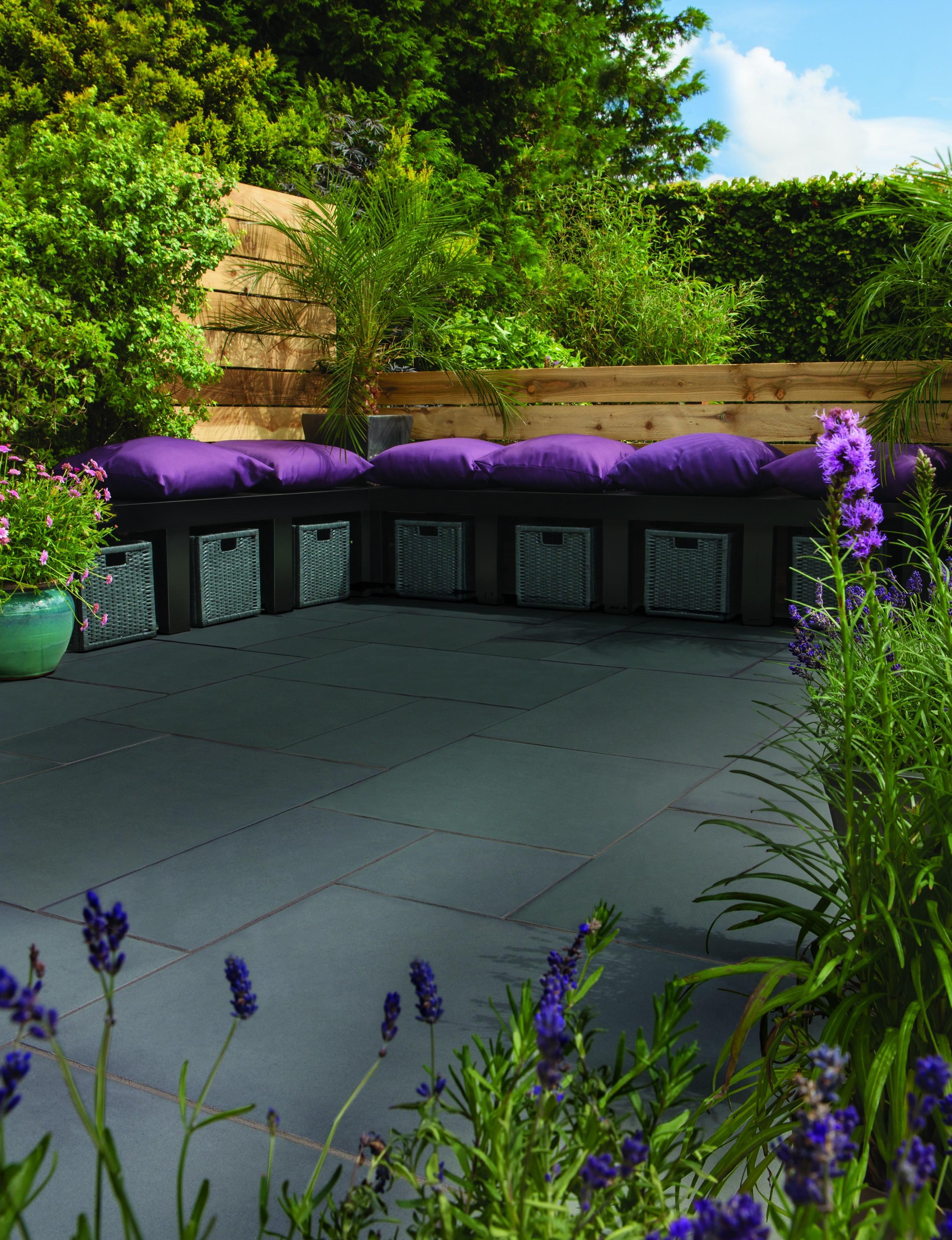 Bradstone smooth sandstone paving kebur for Garden design ideas scotland