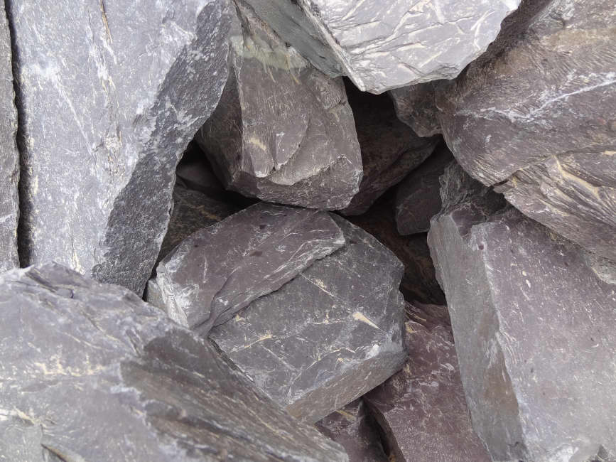 Plum Slate Rockery