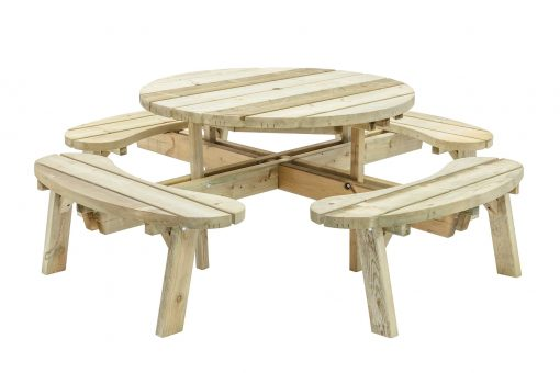 Round Garden Table with Seats