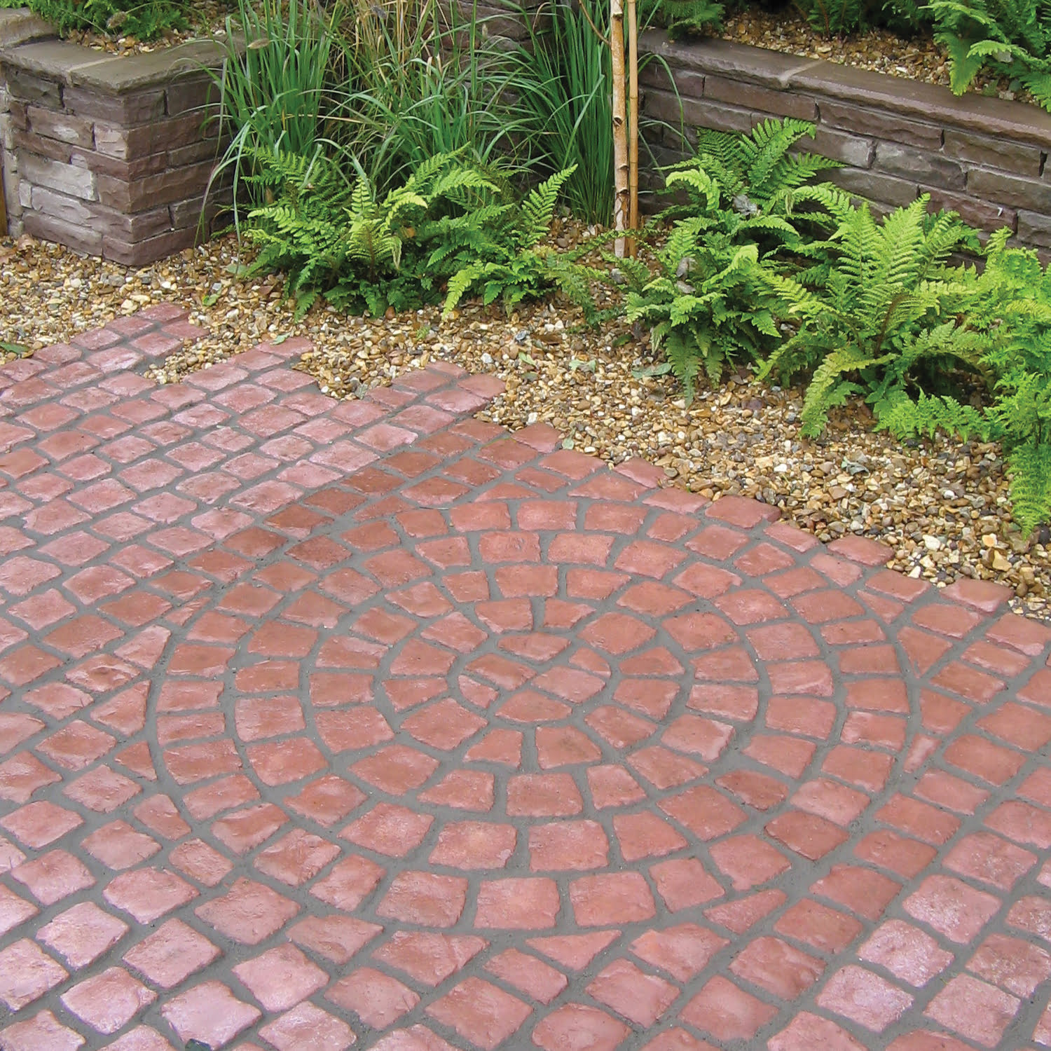 Red Paving Stones : Bradstone carpet stones kebur