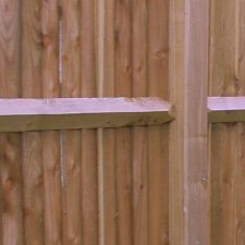 Feather edge and arris rail fencing