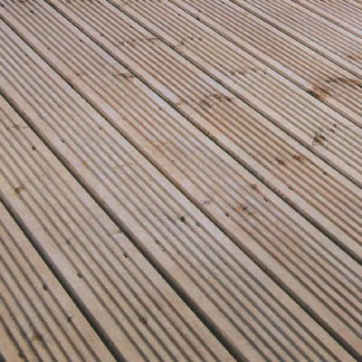 Timber deck boards and joists