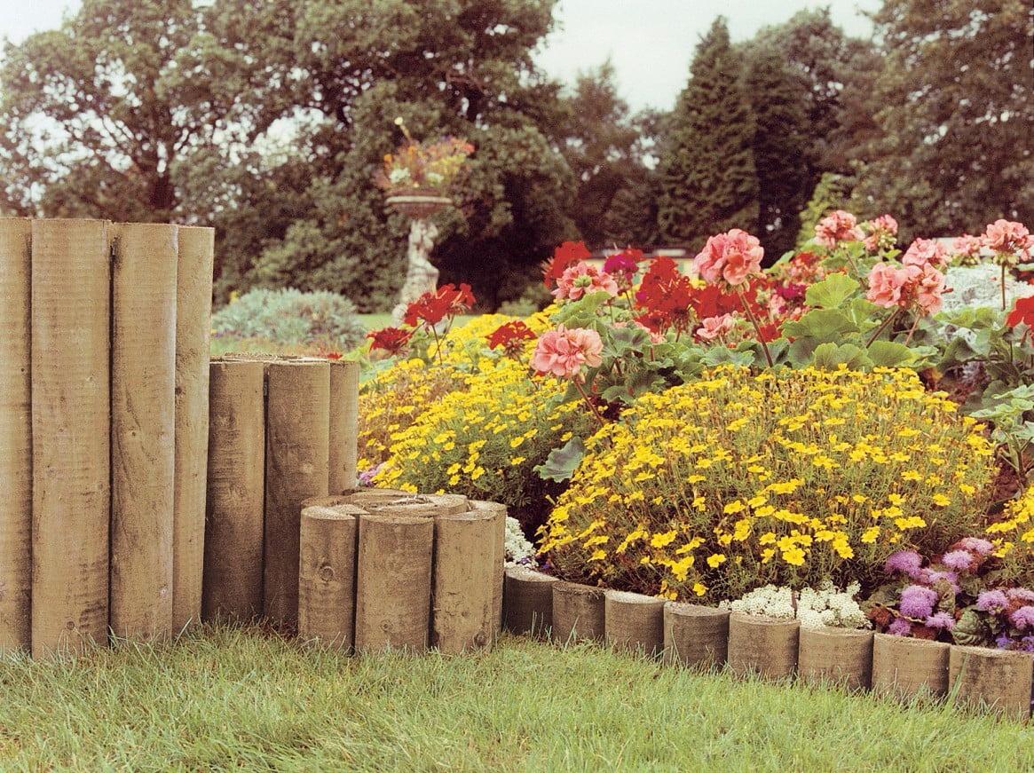 Grange log edging roll kebur for Log garden edging