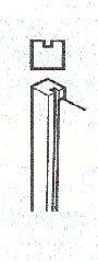 Slotted Concrete End Post