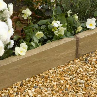 Natural Sandstone Edging Autumn Green