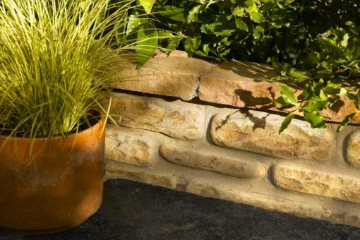 Natural Sandstone Walling Fossil Buff