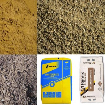 Aggregates and cement