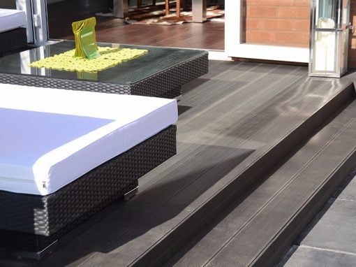 Narrow Profile Charcoal Composite Decking