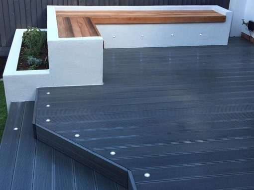 Composite Decking Narrow Profile Charcoal Deck