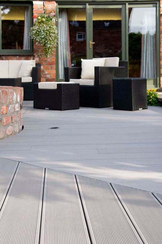 New products provide long lasting and clean low for Grey composite decking