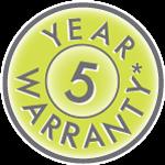 5year warranty