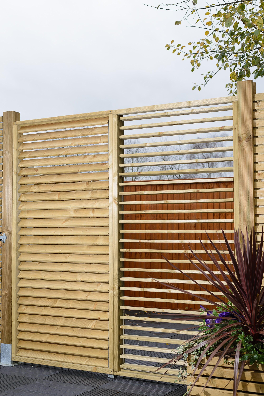 Grange Adjustable Slat Garden Screen - Kebur