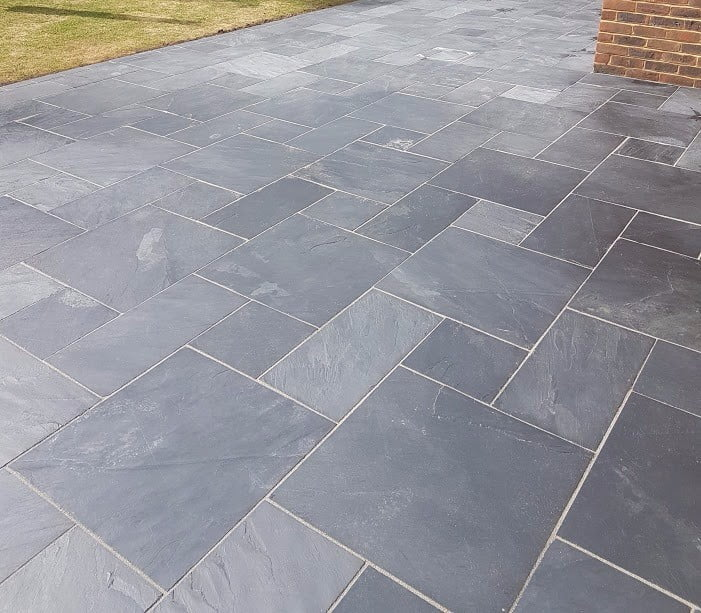 Kebur Contempo Natural Slate Paving In Blue Black Or Rusty