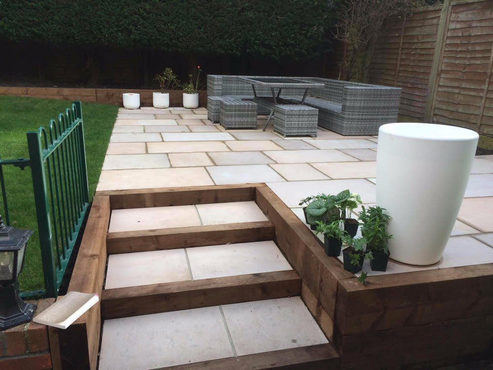 Raised Patio with Steps