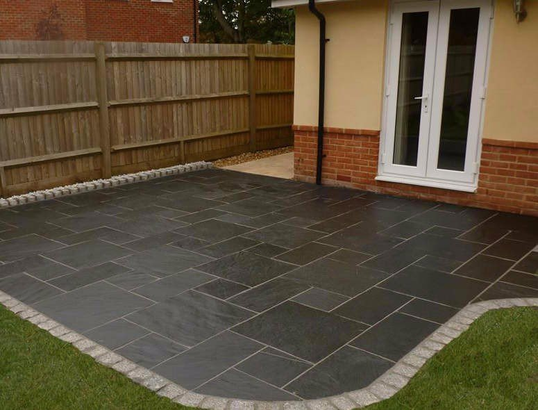 Slate Patio Slabs >> Kebur Contempo Natural Blue Black Slate Paving