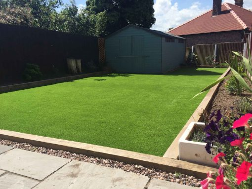 Dartmoor artificial grass installed