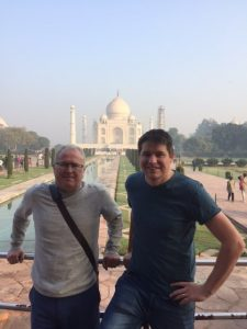 Cliff and Ian at the Taj Mahal, Agra