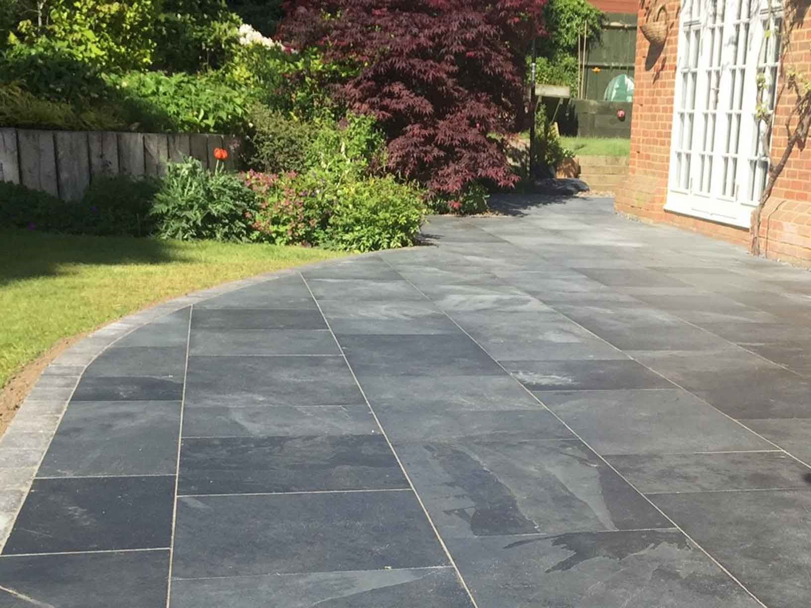 Slate Patio Slabs >> Kebur Contempo Brazilian Black Slate Paving