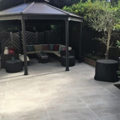 Contempo Porcelain Sandstorm installed by Bluewater Landscapes