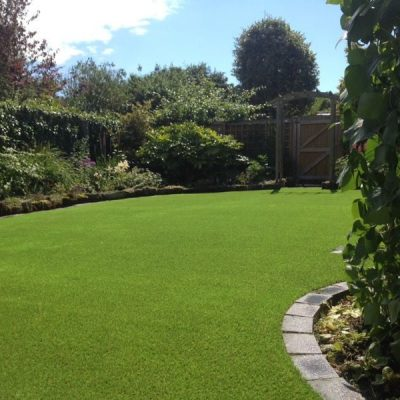 Brecon artificial grass installation