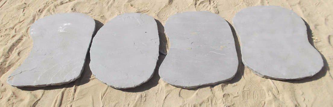 Silver Grey Random Stepping Stones (dry)