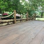Saige Rustic Composite Decking in Walnut