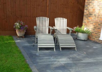 Natural slate patio