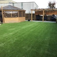 Artificial turf pub garden