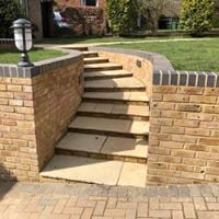Steps and walling
