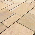 Natural Sandstone Trade Pack in Buff being laid