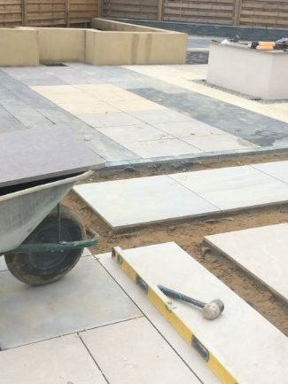 Porcelain paving advice & reward on cement purchases