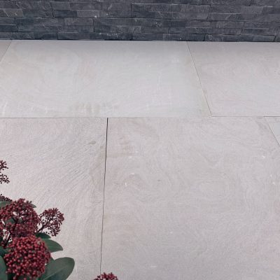 Pearl White Flamed Sandstone