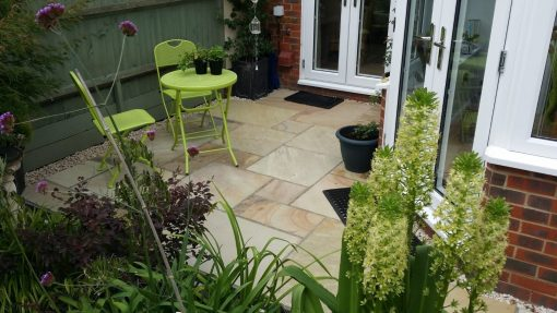 Natural Sandstone Trade Pack in Fossil Mint installed by Leisure Landscapes