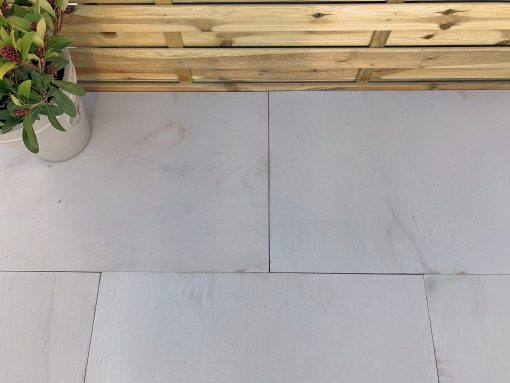 Pearl White Leather Sandstone