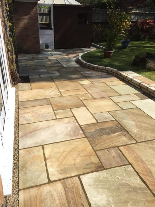 Natural Sandstone Trade Pack in Fossil Mint installed by Stones & Roses