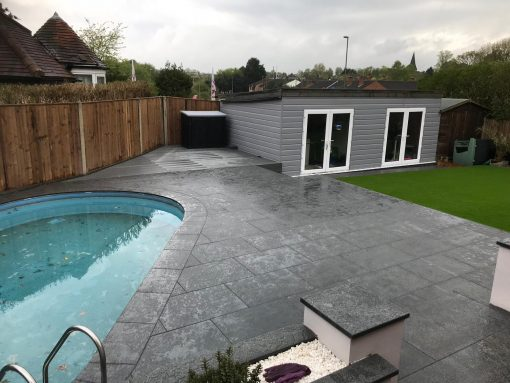 Mid Grey Granite (Intensified) installed by Winslade Landscapes