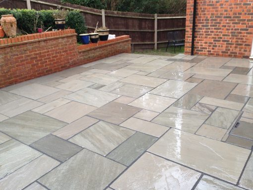 Kebur Trade Pack Grey Sandstone paving installed by Paving Solutions