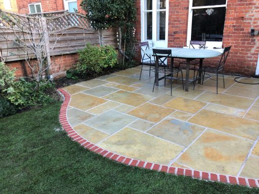 Yellow Limestone installed by Verdant Landscapes