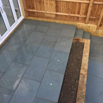 Brazilian Grey Slate by Pine Ridge Landscapes (wet)