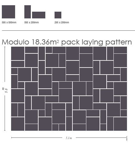 Modulo porcelain laying pattern