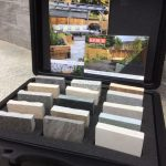 Kebur paving collection sample display case