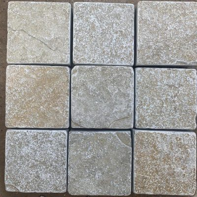 Tumbled Yellow Limestone Setts (Dry)