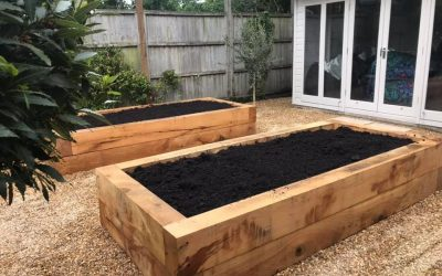 How to lay garden sleepers